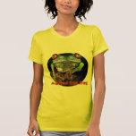 Rana arbórea observada rojo de Junglewalk.com Camiseta
