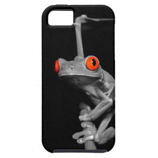 Rana arbórea observada rojo iPhone 5 Case-Mate cárcasa