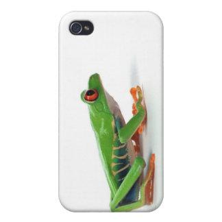 Rana arbórea observada rojo iPhone 4/4S carcasa