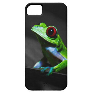 Rana arbórea observada rojo III iPhone 5 Case-Mate Funda
