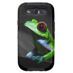 Rana arbórea observada rojo III Samsung Galaxy S3 Carcasas