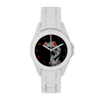 Rana arbórea observada rojo relojes de pulsera