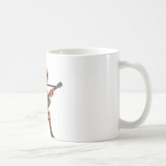 Rana arbórea que juega blanco colombiano de la taza de café