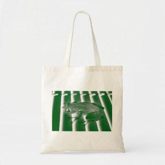 rana arbórea que mira el diseño animal del bolsas de mano