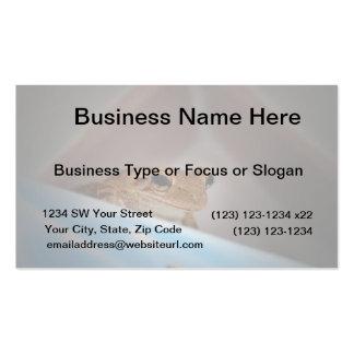 rana arbórea que mira el espectador en azul plantillas de tarjeta de negocio