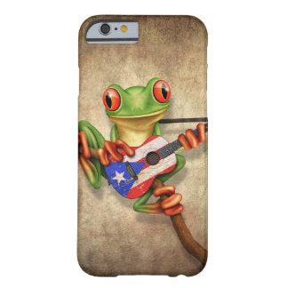 Rana arbórea que toca la guitarra de la bandera de funda de iPhone 6 barely there