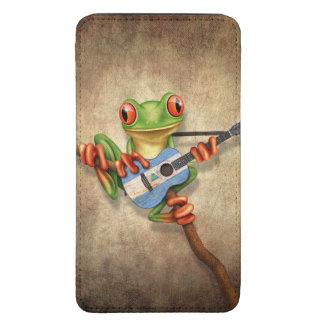 Rana arbórea que toca la guitarra nicaragüense de bolsillo para galaxy s5
