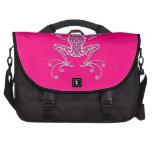 Rana arbórea rosada compleja bolsas de portatil