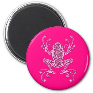 Rana arbórea rosada compleja imanes