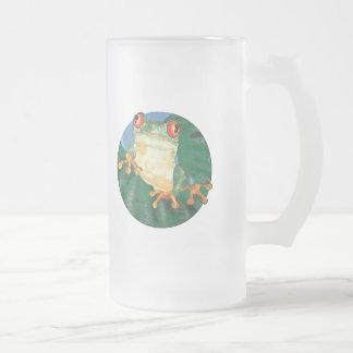 Rana arbórea taza de cristal
