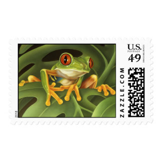 Rana arbórea timbre postal