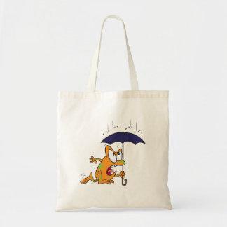 rana arbórea tonta con el dibujo animado del parag bolsas