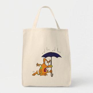 rana arbórea tonta con el dibujo animado del parag bolsa de mano