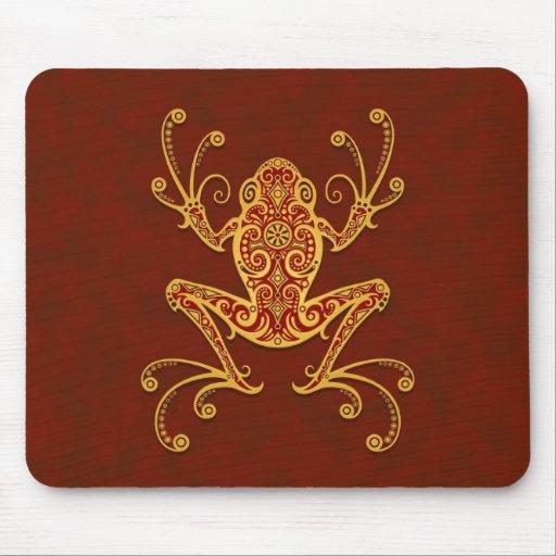 Rana arbórea tribal (rojo de oro) tapete de ratones