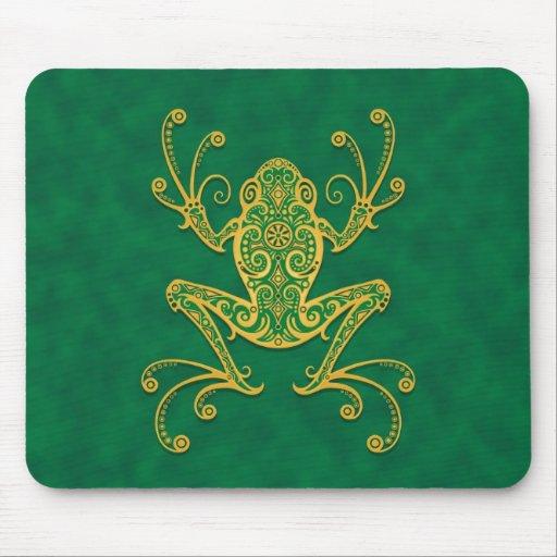 Rana arbórea tribal (verde) alfombrilla de ratones