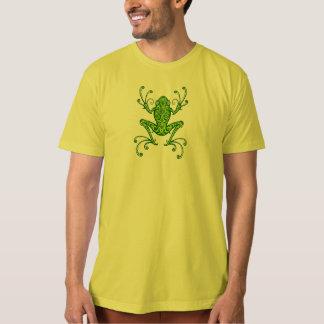 Rana arbórea verde compleja playeras
