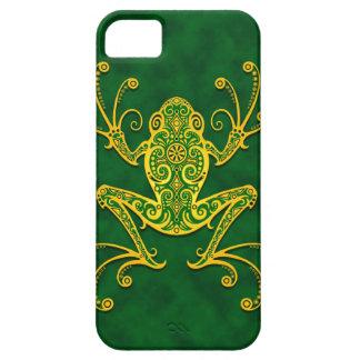 Rana arbórea verde de oro compleja iPhone 5 cárcasa
