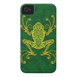 Rana arbórea verde de oro compleja Case-Mate iPhone 4 cobertura