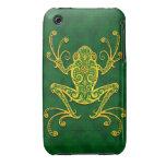 Rana arbórea verde de oro compleja iPhone 3 cárcasas