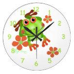 Rana arbórea verde linda relojes