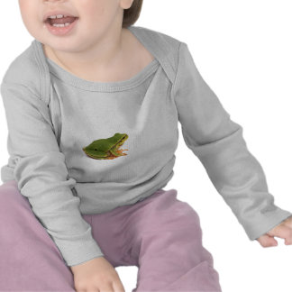 rana arbórea verde camiseta