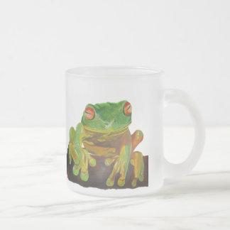 Rana arbórea verde tazas de café