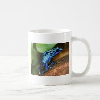 rana azul de la flecha del veneno tazas de café