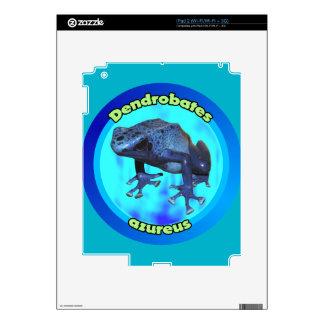Rana azul del dardo del veneno calcomanías para el iPad 2