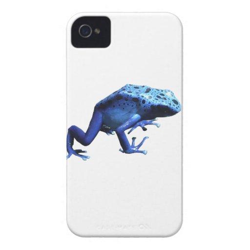 Rana azul del dardo del veneno iPhone 4 Case-Mate carcasas