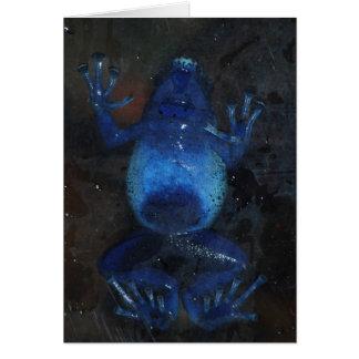 rana azul del dardo del veneno tarjetas