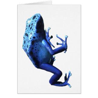 Rana azul del dardo del veneno felicitación