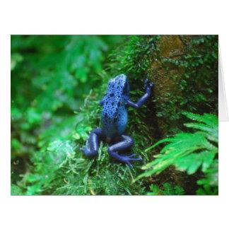 Rana azul del dardo del veneno tarjeta