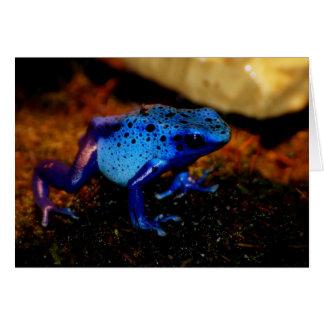 Rana azul del veneno felicitación