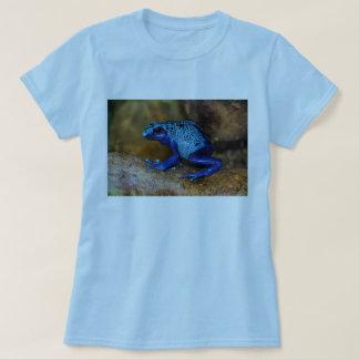Rana azul Dendrobates Azureus del dardo del veneno Remeras