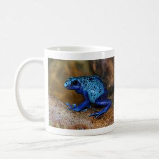 Rana azul Dendrobates Azureus del dardo del veneno Tazas