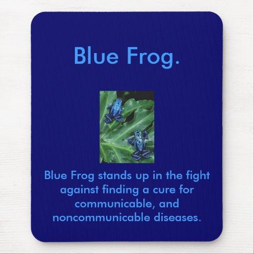 Rana azul tapete de ratones