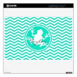 Rana blanca; Aguamarina Chevron verde Calcomanías Para MacBook Air