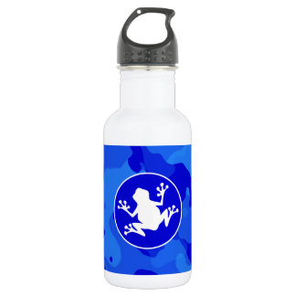 Rana blanca en Camo azul; Camuflaje