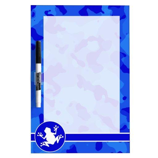 Rana blanca en Camo azul; Camuflaje Pizarra