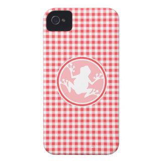 Rana blanca Guinga roja y blanca iPhone 4 Case-Mate Carcasa