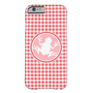 Rana blanca Guinga roja y blanca Funda De iPhone 6 Slim