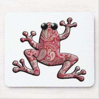 Rana blanca rosada roja de Paisley Mousepad