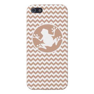 Rana Brown Chevron iPhone 5 Cárcasas