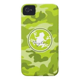 Rana camo verde camuflaje iPhone 4 fundas