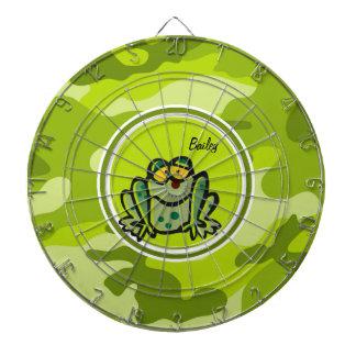 Rana camo verde claro camuflaje tablero de dardos