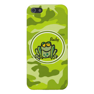 Rana camo verde claro camuflaje iPhone 5 funda