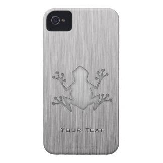 Rana cepillada de la mirada del metal Case-Mate iPhone 4 fundas