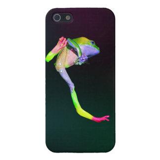 Rana cerosa gigante del mono del arco iris iPhone 5 carcasas