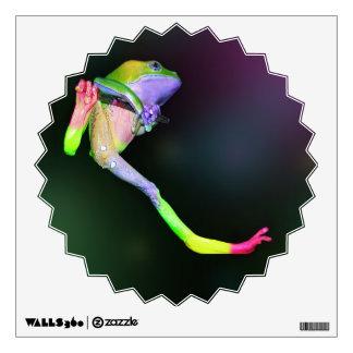 Rana cerosa gigante del mono del arco iris vinilo adhesivo
