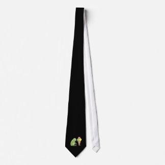 Rana con helado corbata personalizada